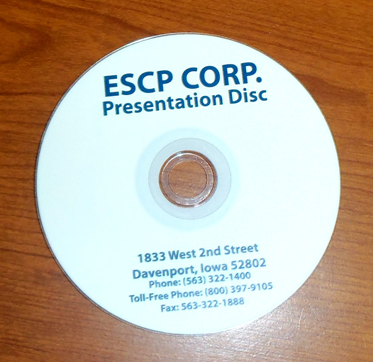 Custom Designed Label for Slideshow Presentation DVD is a Great Marketing Tool