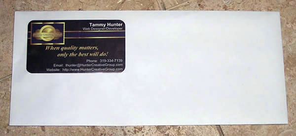 Business Card Marketing and Advertising Envelopes