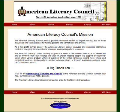 American Literacy Council Website