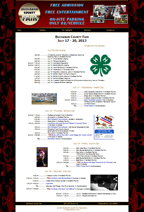 Buchanan County Fair Website