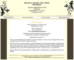 Psychiatrist Dr. Beverly Reader - Washington D.C. Metro Area