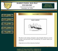 Washington DC Psychiatrist Maheen Patel Website