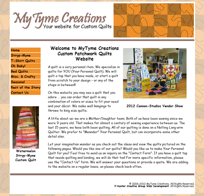 MyTyme Quilting Creations