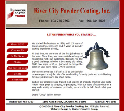 River City Powder Coating - Powdercoating Paint Specialist in LaCrosse, Wisconsin