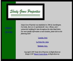 Shady Grove Properties - Property and Apartment Rental in Lansing, LaPorte City, and Reinbeck, Iowa