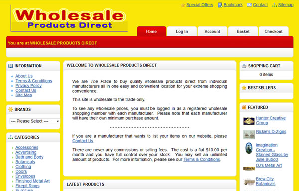 Wholesale Products Direct - National website for USA Wholesalers and Retailers