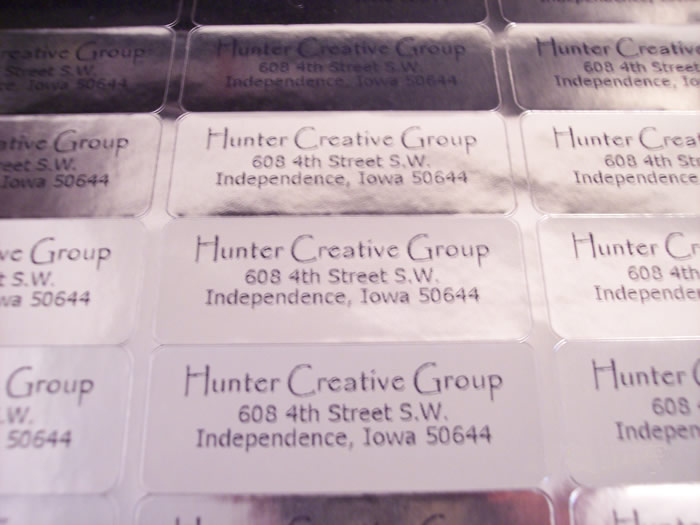 Professional Address Labels  Clear White Shiny Metallic Gold Silver