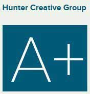 Hunter Creative Group Website Design Business has Best A+ Rating at the Better Business Bureau